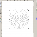 Adjusting the scale - I wanted the Shield logo to have a ring around, but the Hydra logo should go without.