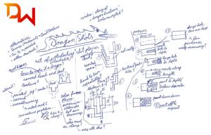 Skizze für die Holz-Stamperl