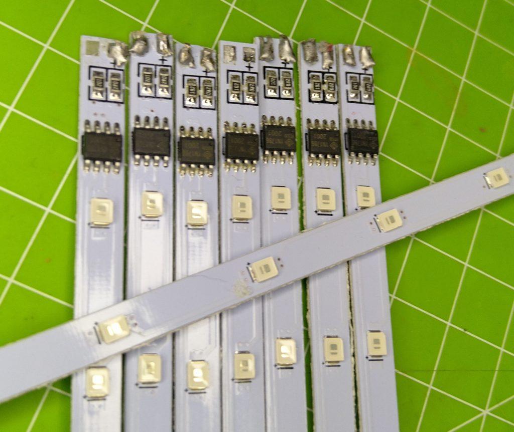 Die LED-Streifen der Meteor.Lichter